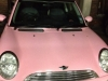 Another shot of this awesome baby pink mini cooper!