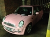 We spotted this Pink Mini Cooper Hiding!!